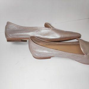 ENZO ANGIOLINI metallic champagne pink ballet flat